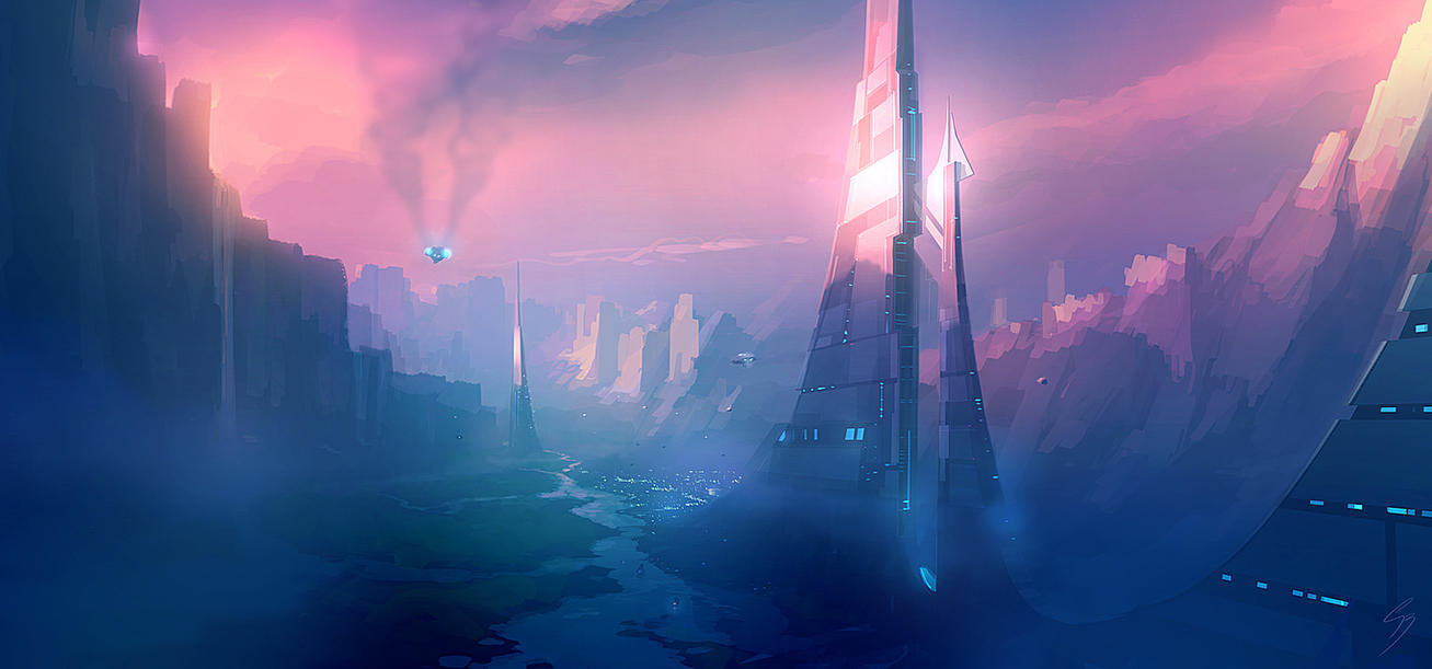 speed_painting___valley_city_by_antifan_