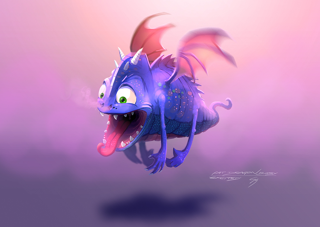 Speedpaint - Phat Baby Dragon by ANTIFAN-REAL
