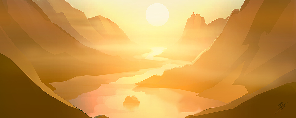 30 min Speed painting - valley by ANTIFAN-REAL