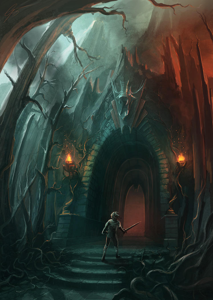 Fire Cave Entrance - Concept. by ANTIFAN-REAL