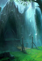 Water Dungeon Entrance Concept by ANTIFAN-REAL