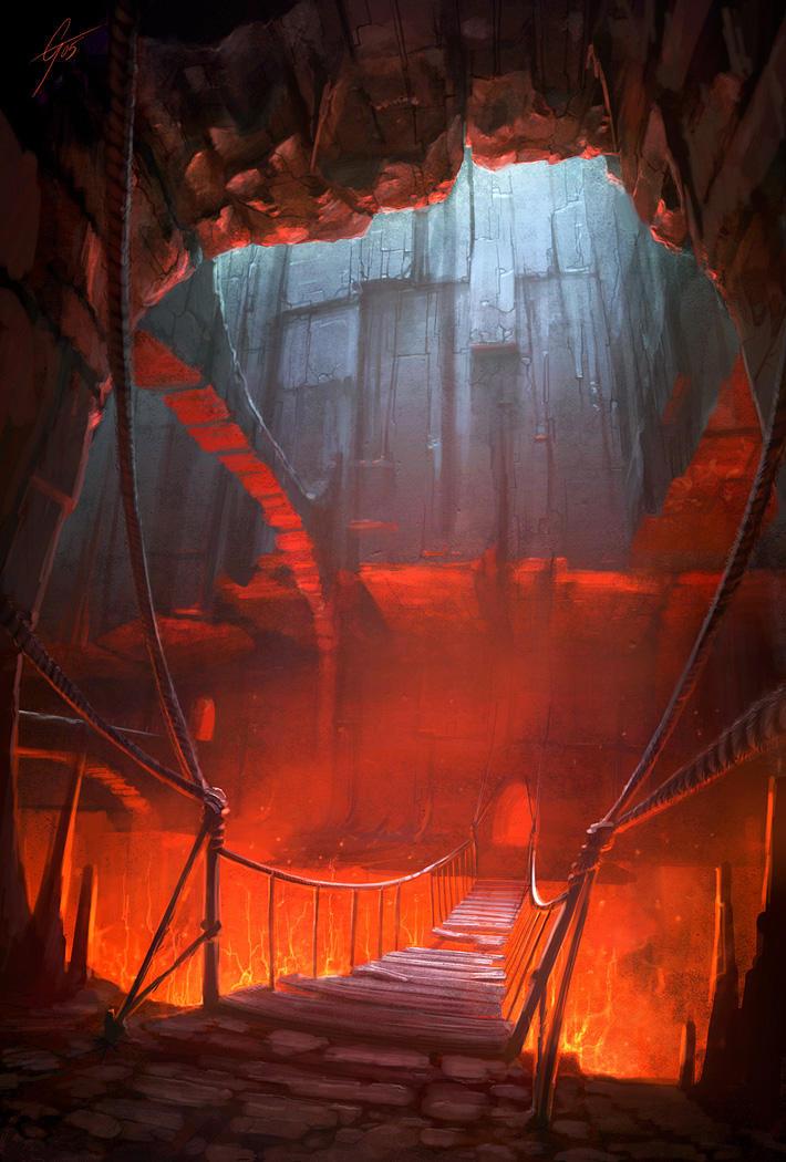 Chemin qui Réchauffe le Corps et Réveil les Peurs dans Divers Fire_Caves_V___concept_by_ANTIFAN_REAL