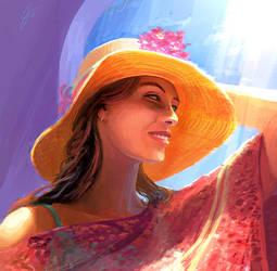 SPEEDPAINT-Sketch - Sunhat. by ANTIFAN-REAL