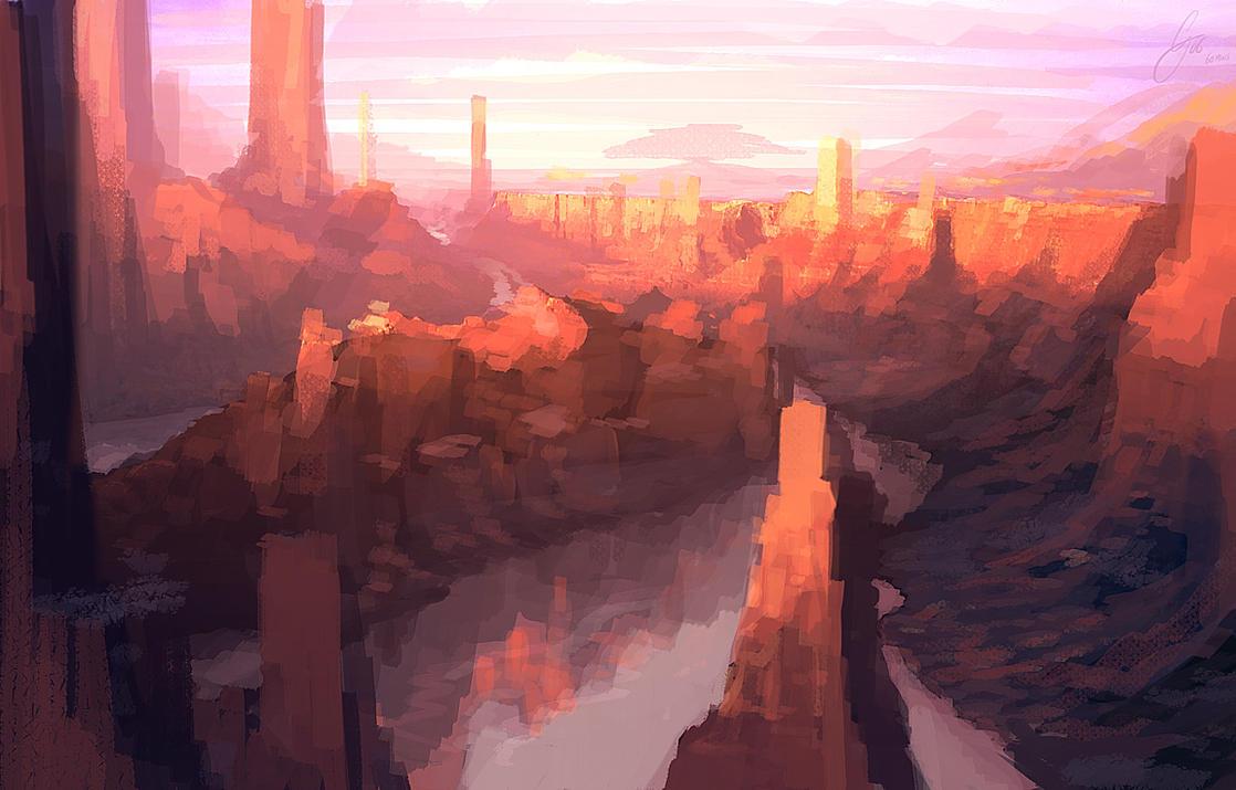 SPEEDPAINT - Canyon by ANTIFAN-REAL