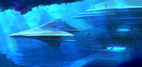 SPEEDPAINT - Underwater Base by ANTIFAN-REAL