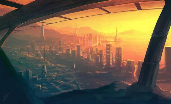 Speedpaint - Future City by ANTIFAN-REAL