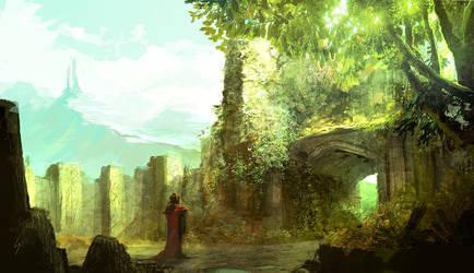 Speedpaint - green environment by ANTIFAN-REAL
