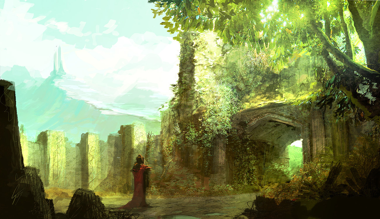 Speedpaint - green environment by ANTIFAN-REAL
