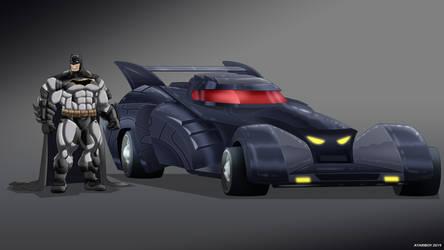 Batman Earth-24: Batmobile by Joel-Cevallos