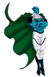 Martian Manhunter (Earth-24) : Blue Protector by Joel-Cevallos