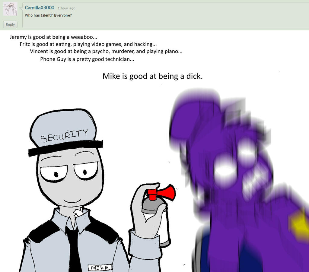 Ask the fnaf night guards 6 by niceaholic on deviantart