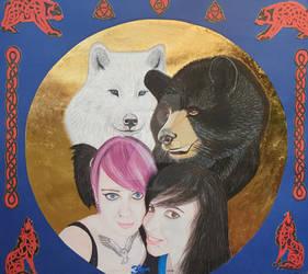 Gem and Jen portrait by tamarazeegers