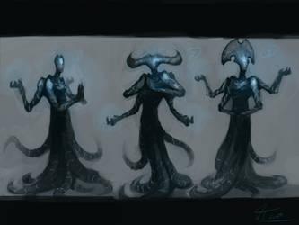 Eldrazi Priests by Naznamy