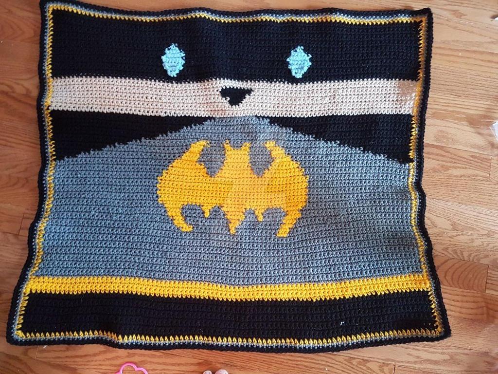 Knitting Pattern For Batman Blanket : Crocheted Afghans and Blankets on Knitting-and-Crochet ...