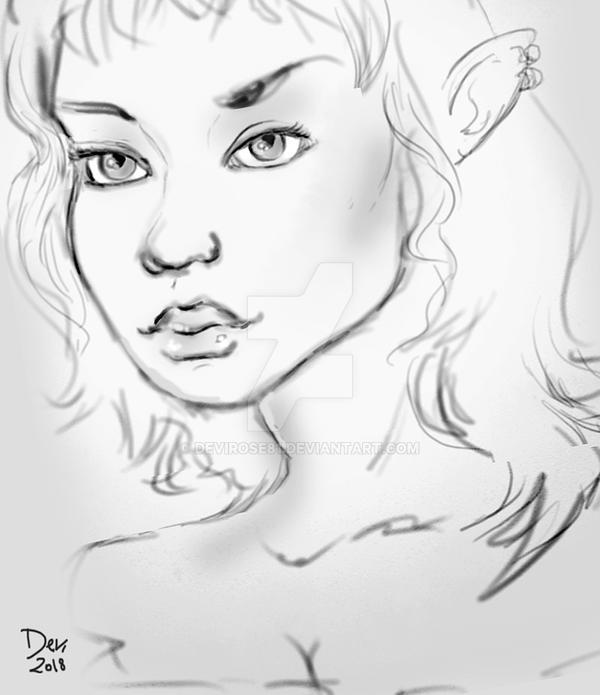 Elf sketch 3 by Devirose81