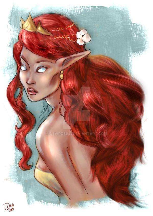 Red Elf by Devirose81