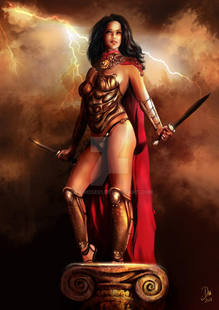 Greek Warrior Girl