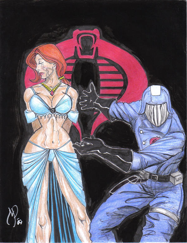 Cobra Commander Scarlett color by MichaelPowellArt