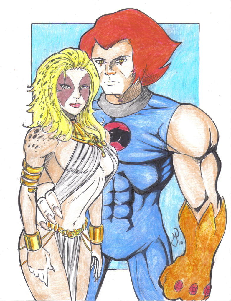 Cheetara and Lion O Colored by MichaelPowellArt