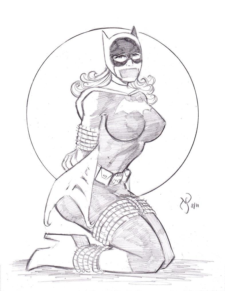 Yvonne Craig Batgirl In Peril by MichaelPowellArt