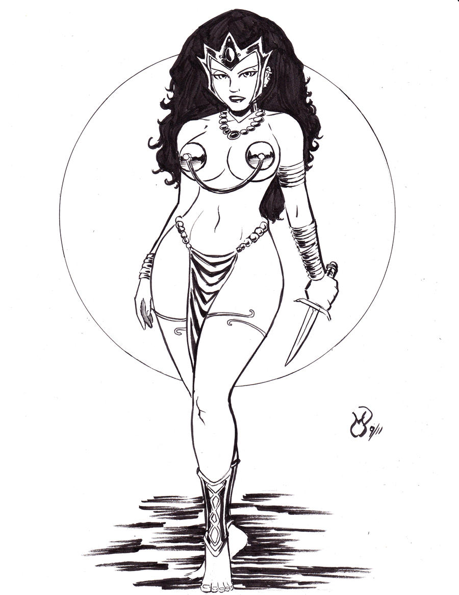 Commission: Dejah Thoris by MichaelPowellArt