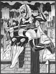 Batwoman and Huntress Rooftop Spanking