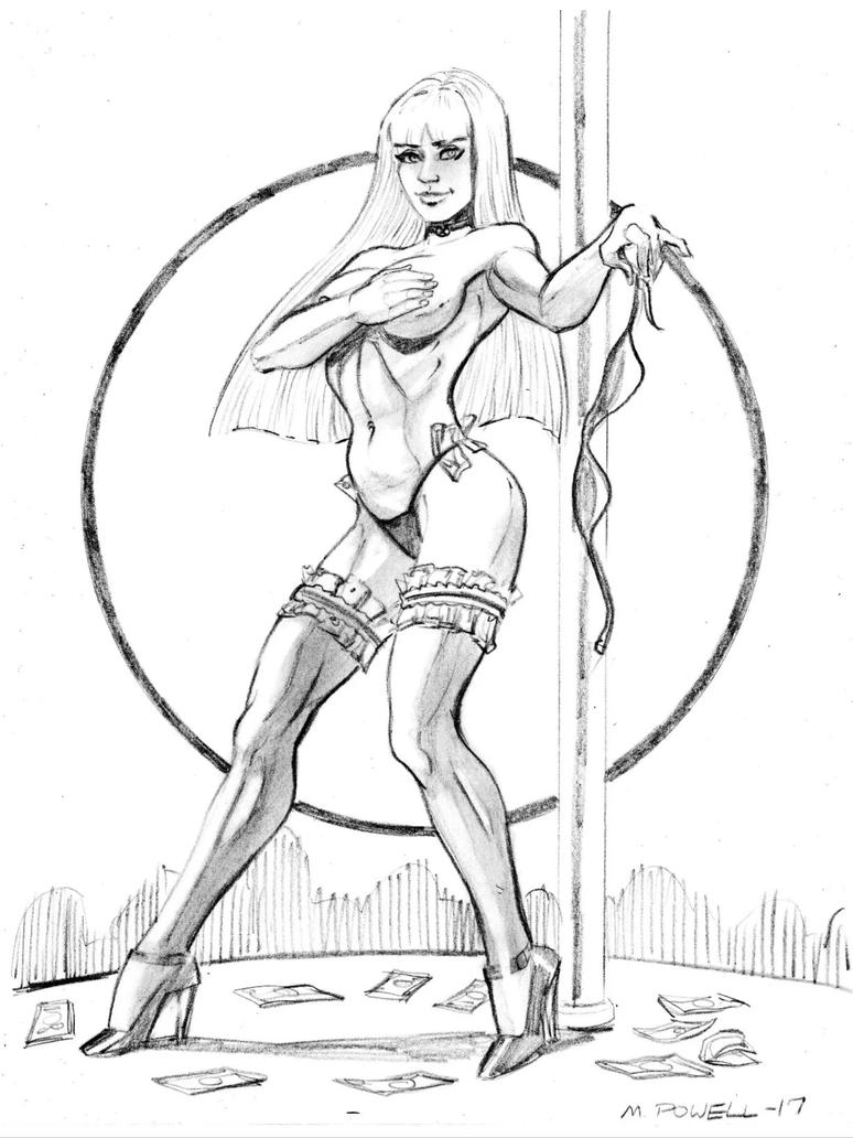 Stripper Illyana by Bondagedean