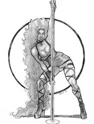 Stripper Starfire  by Bondagedean