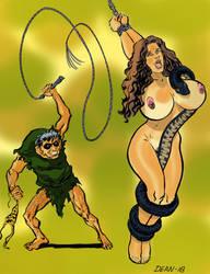 Budd Roots Cavewoman by Bondagedean