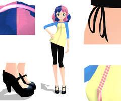 BonBon MMD Model by GirlAnimePrincess
