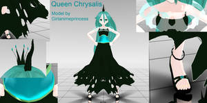 Queen Chrysalis MMD Model by GirlAnimePrincess