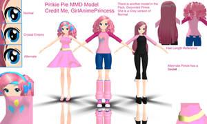 Pinkie Pie MMD Models