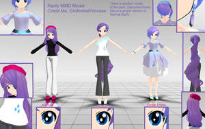 Rarity MMD Models by GirlAnimePrincess