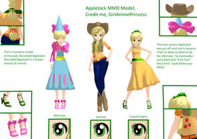 AppleJack MMD Models by GirlAnimePrincess