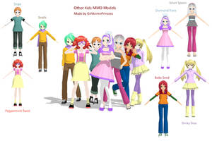 Fillys and Colts MMD Model Pack by GirlAnimePrincess