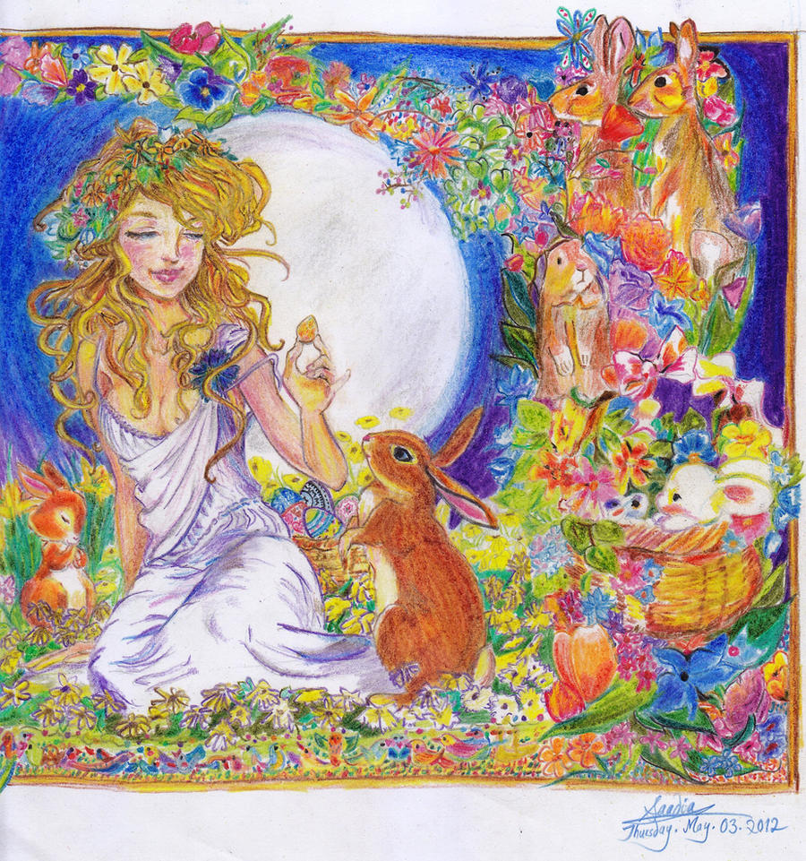 Goddess Eostre by ginqueeen