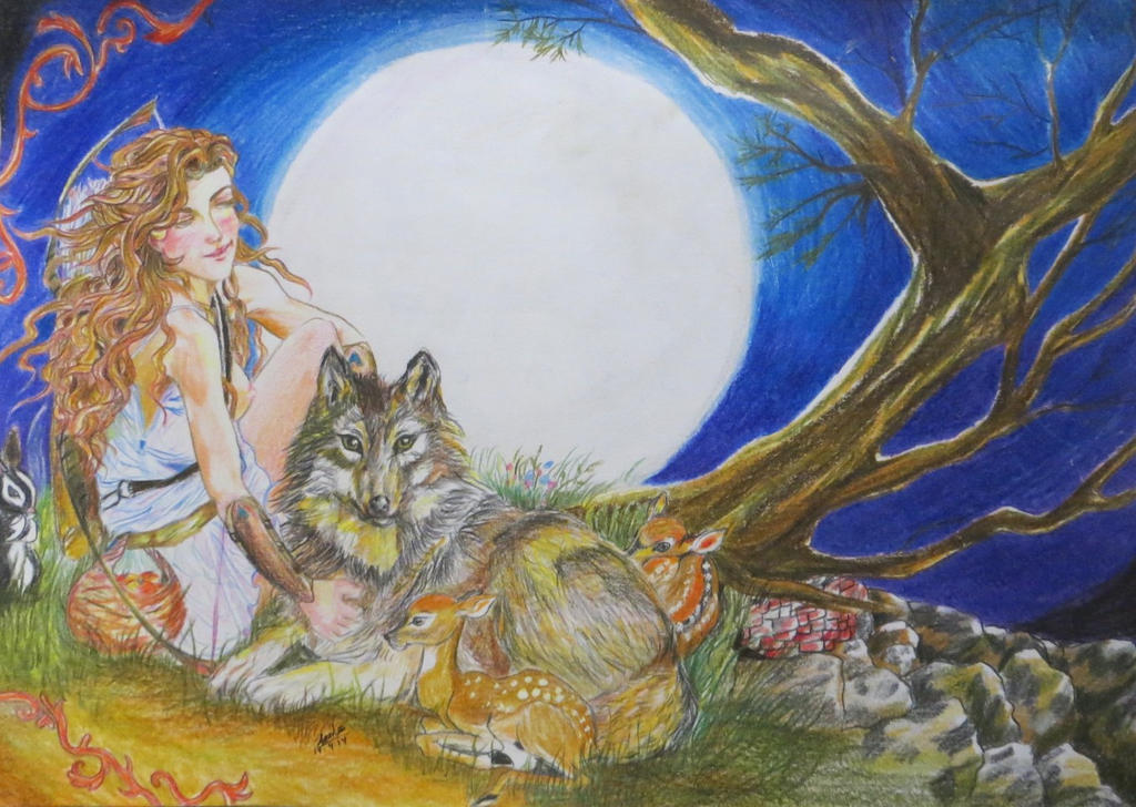 artemis goddess of the hunt The moon goddess in myth, artemis is sometimes identified with selene, the greek goddess of the moon indeed, this association between artemis and the moon is revealed in one of.