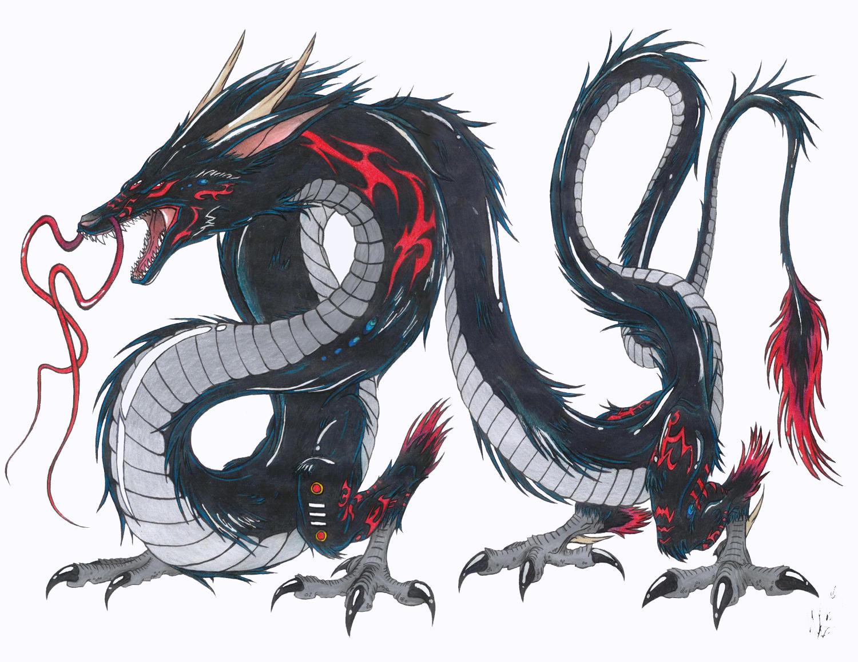 Black dragon takarabria ver 2 by shokokuphoenix on deviantart - Dessin dragon japonais ...
