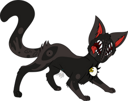 Horror cat by IceDragonQueen22