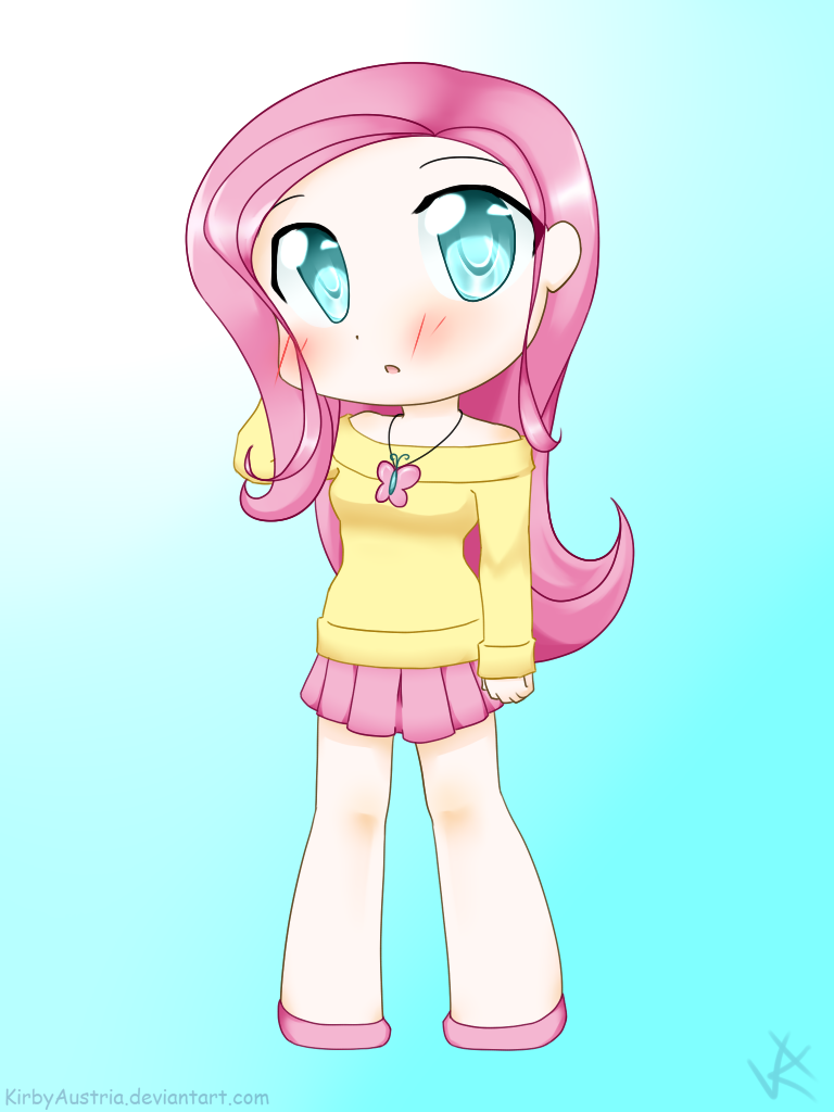 Chibi Human Fluttershy by KirbyAustria on DeviantArt