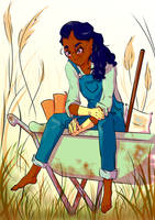 Connie Gardening by LemonLamb