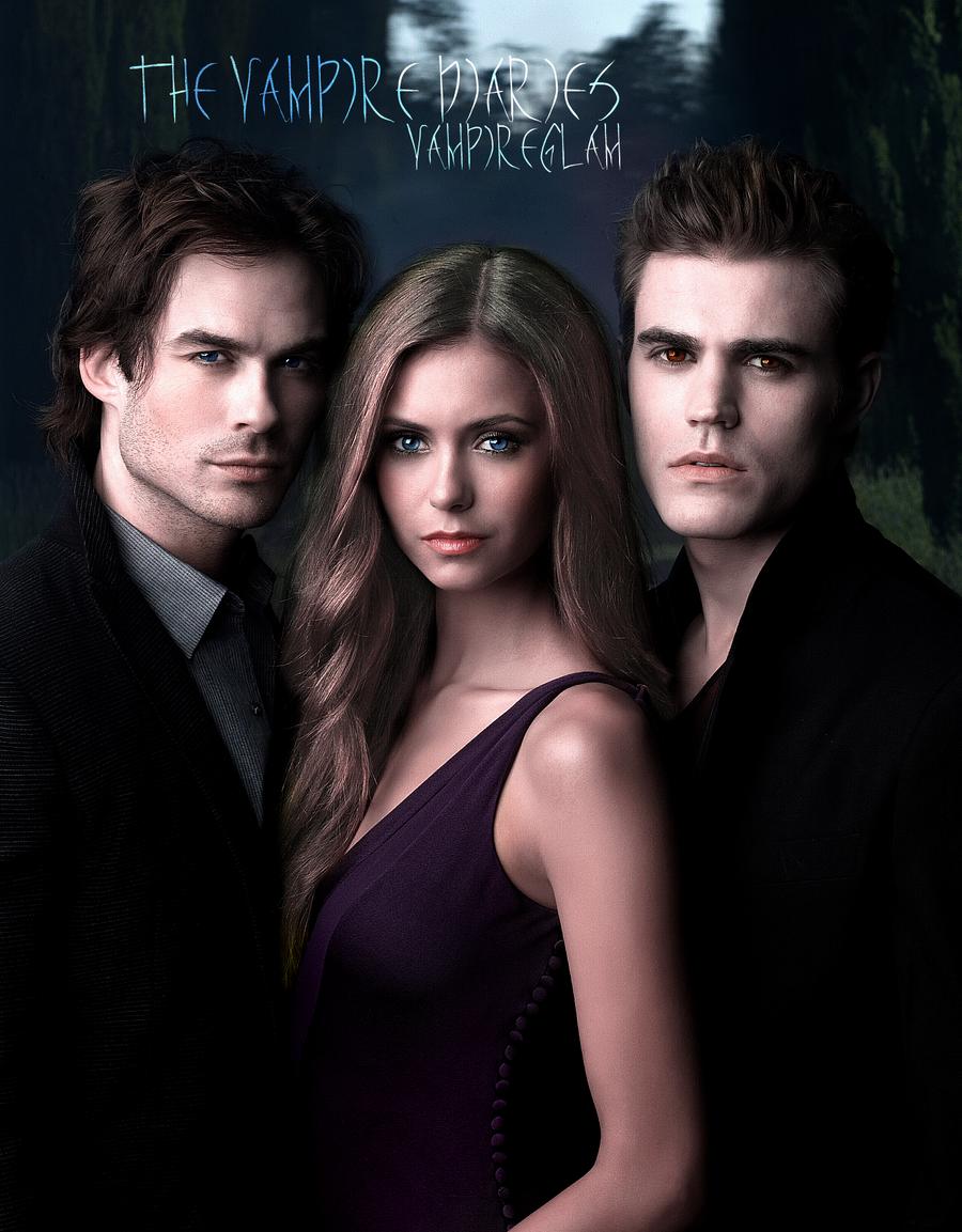 Damon elena and stefan by vampireglam on deviantart for Damon y elena