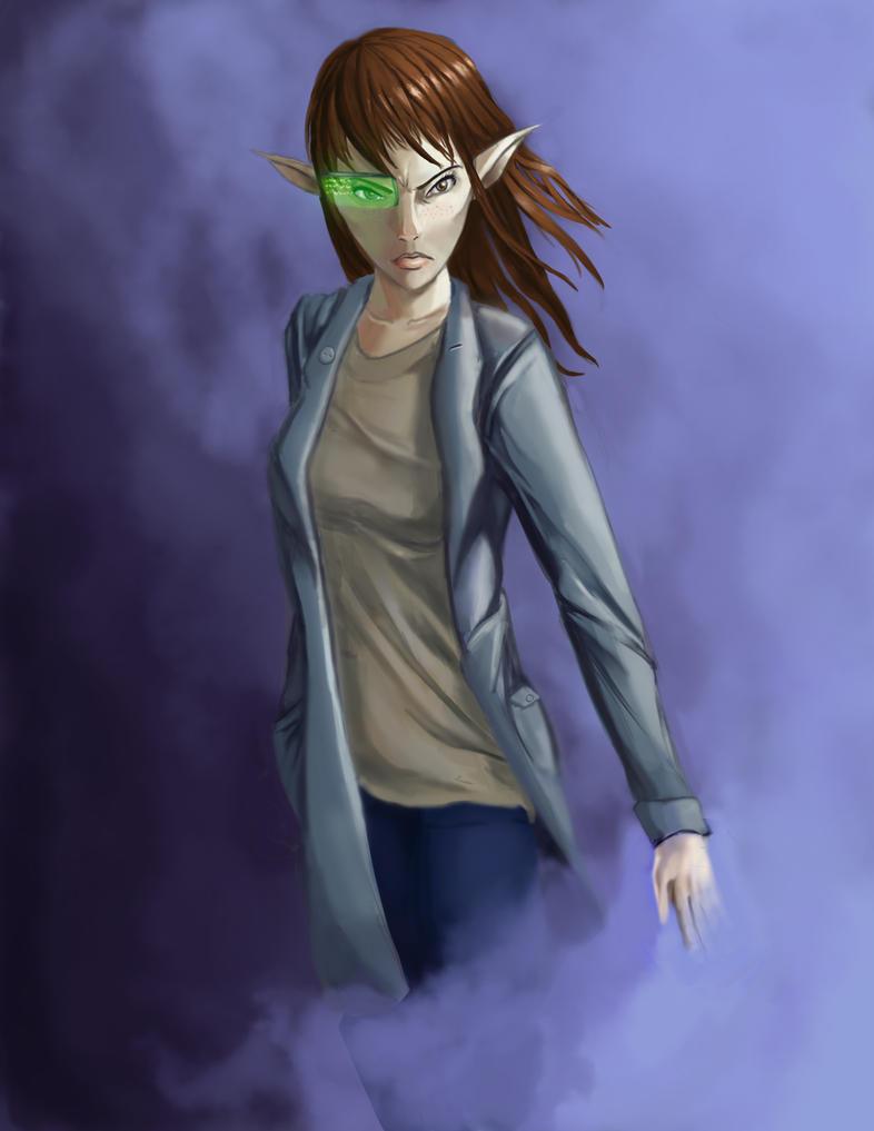 Shadowrun Elf Hacker by Chaoclypse