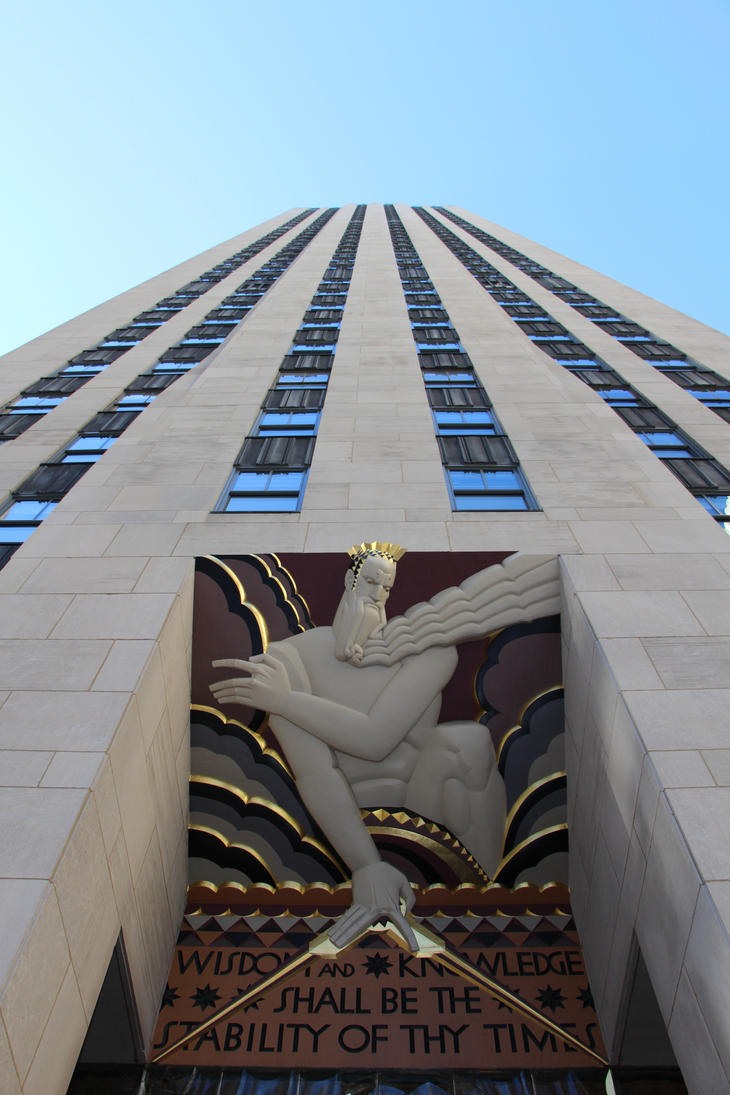 The rockfeller center : Zeus by Karaaib