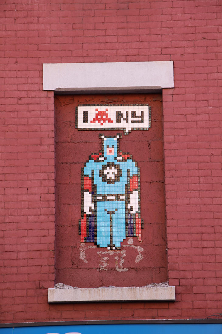 Super Hero by Invader by Karaaib