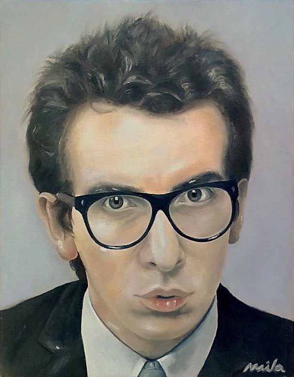 Elvis (Costello) by labelledelamort