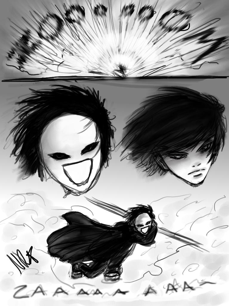 Manga sketch (training) by Nathchi1
