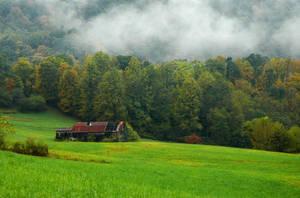 Misty Farm Land by TimLaSure
