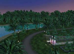 Palm Tree River Lagoon