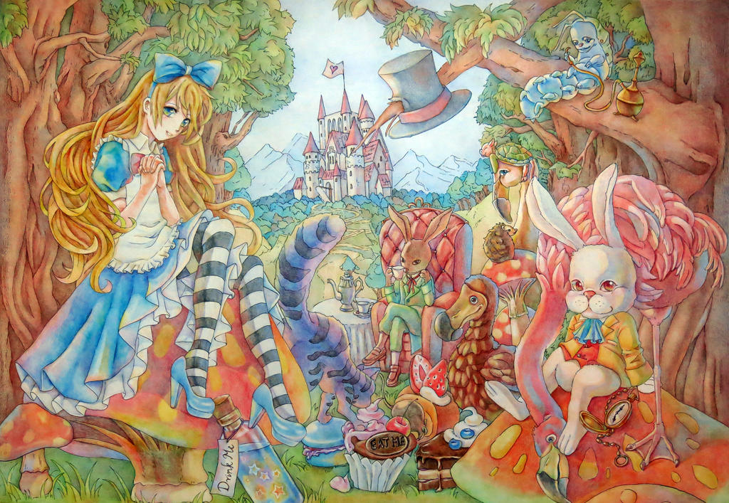 Alice in Wonderland by a798130504